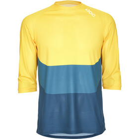 POC Essential Enduro 3/4 Light Jersey Men sulphite multi yellow